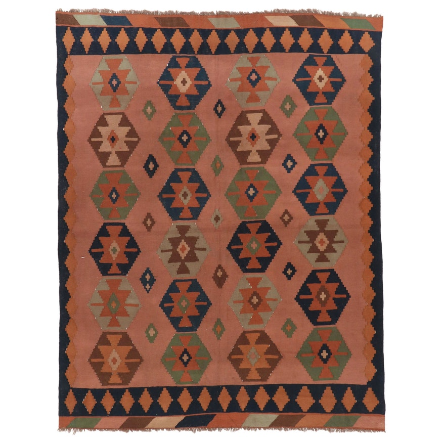 6'6 x 8'8 Handwoven Persian Kilim Area Rug