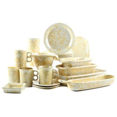 "Bennington Potters ""Morning Glory Yellow"" Glazed Stoneware Dinnerware"