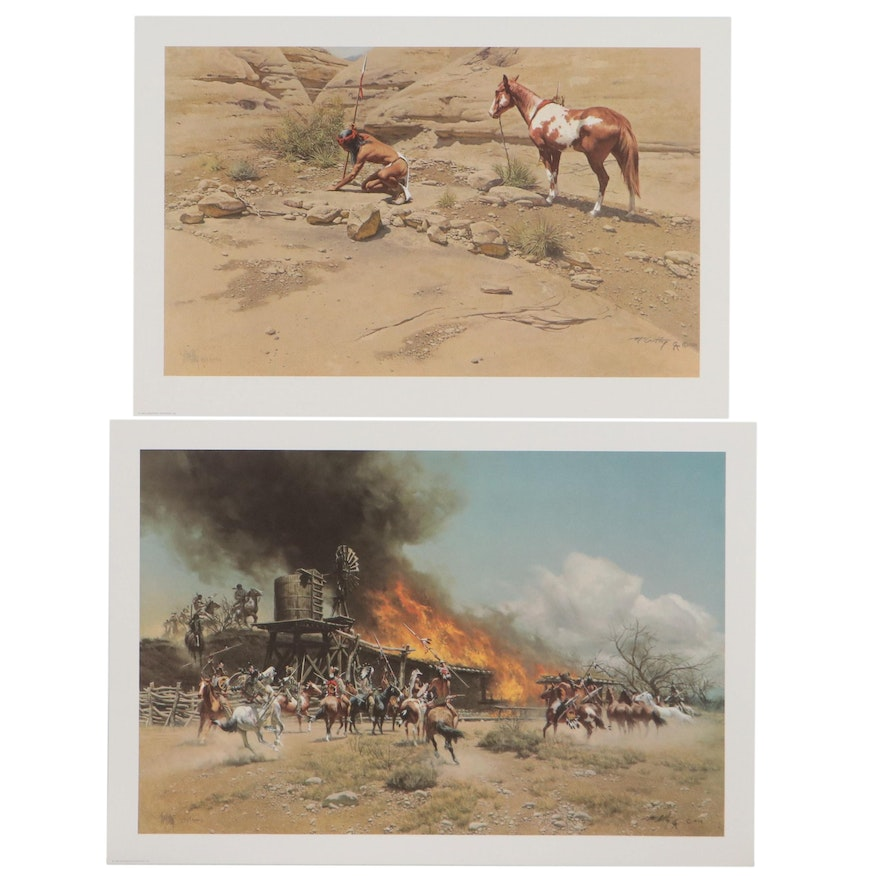 Frank McCarthy Offset Lithographs of Western Genre Scenes