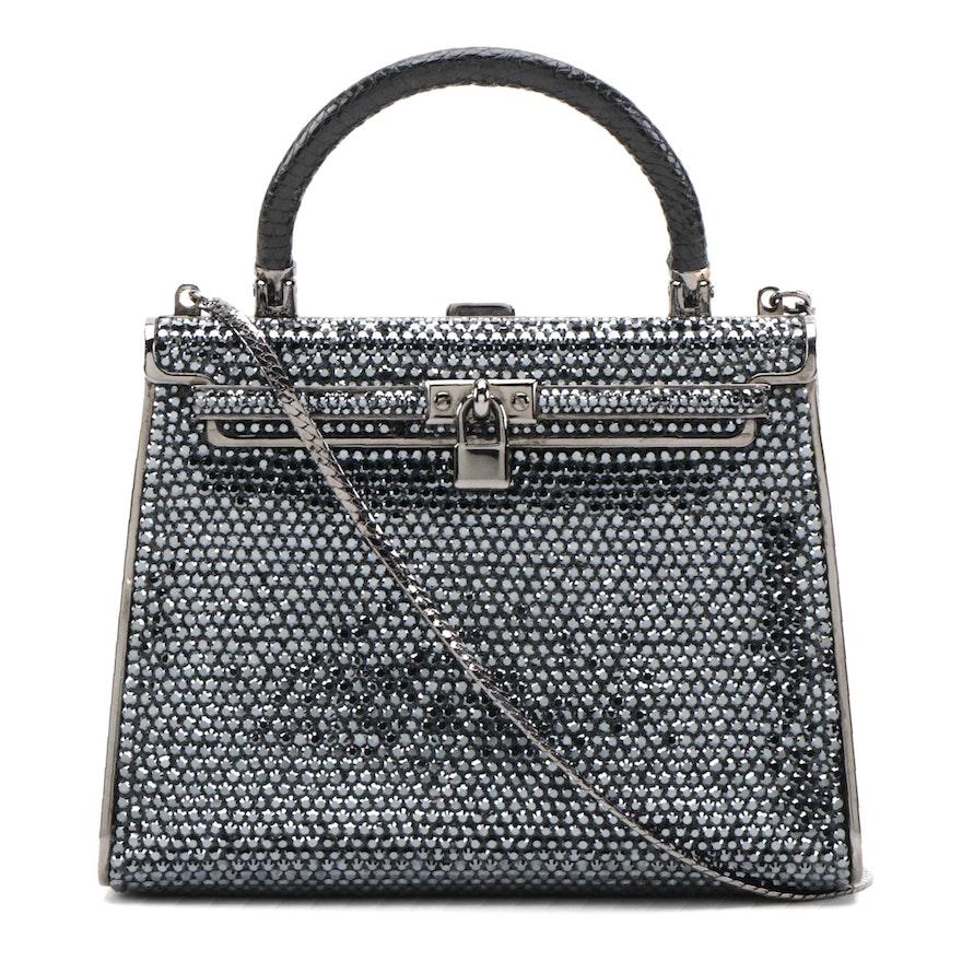 Pamela Dennis Couture Crystal Embellished Handbag with Chain Strap