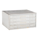 Steel Four Drawer Flat File Cabinet