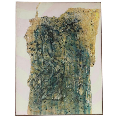Don Stacy Large-Scale Abstract Figurative Oil Painting