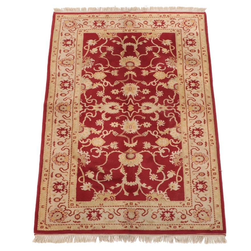 5'6 x 8'3 Hand-Knotted Turkish Oushak Area Rug