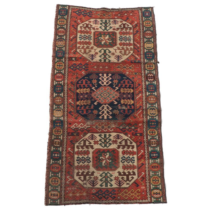 3'6 x 7' Hand-Knotted Caucasian Shirvan Area Rug