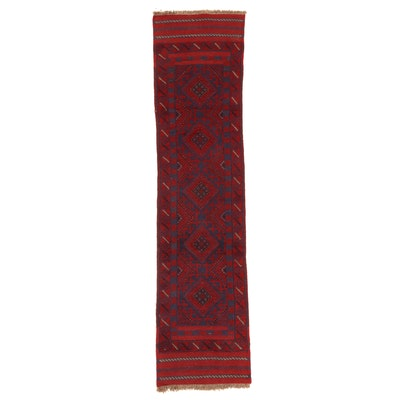 2' x 8'3 Handwoven Afghan Turkmen Mixed Technique Carpet Runner