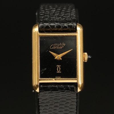 Cartier Must de Cartier Small Tank Style Wristwatch