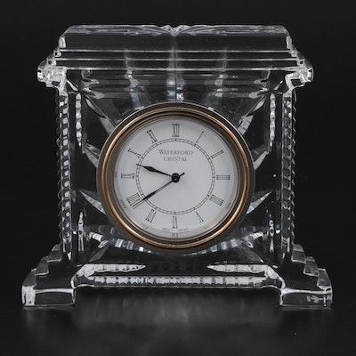 "Waterford ""Coliseum"" Crystal Mantel Clock, 1995"