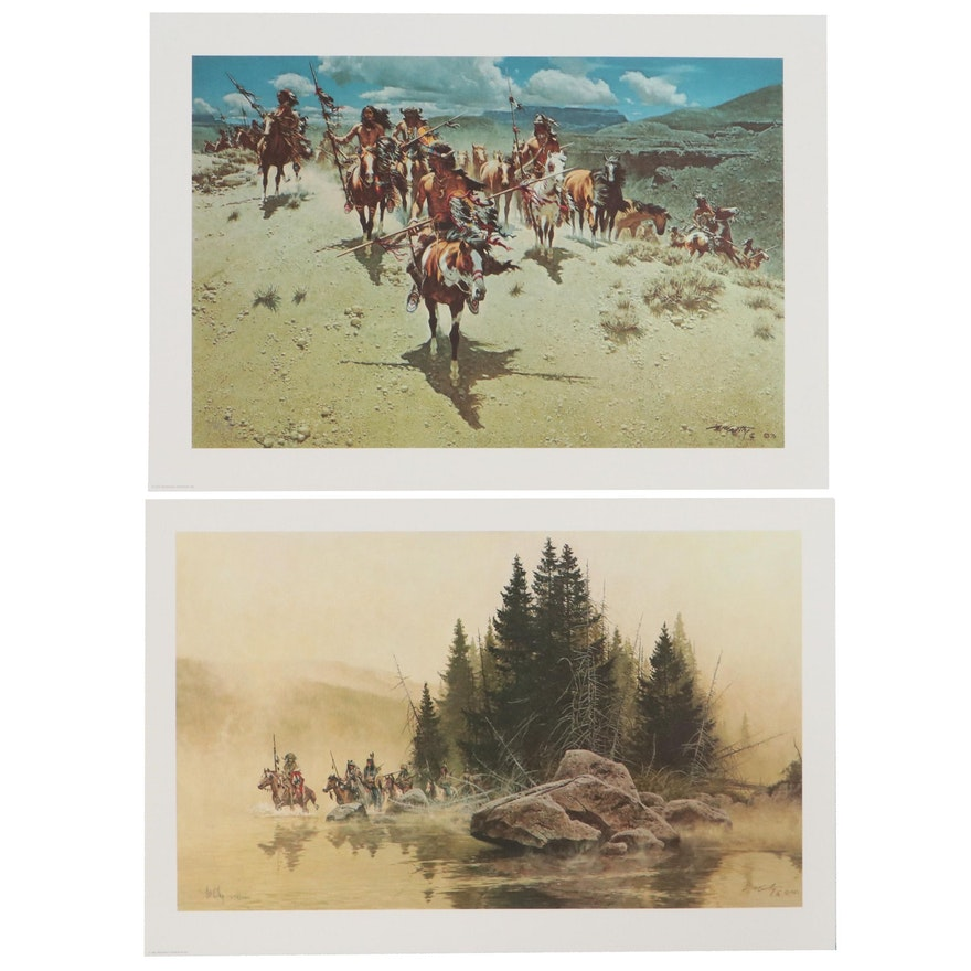 Frank McCarthy Offset Lithographs of Native American Scenes