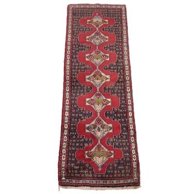 3' x 9'6 Hand-Knotted Persian Bijar Carpet Runner