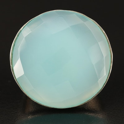 Sterling Chalcedony Statement Ring