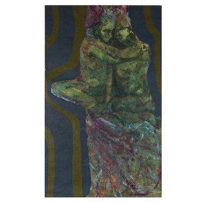 Don Stacy Monumental Abstract Figurative Oil Painting