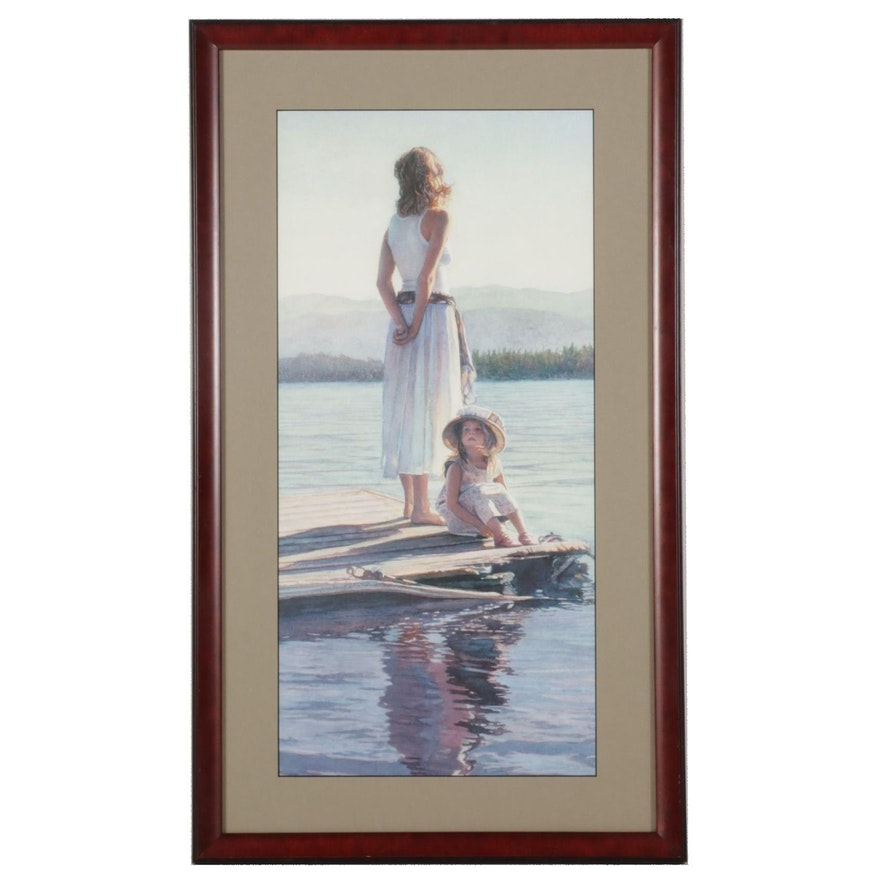 """Offset Lithograph After Steve Hanks """"Sharing in Silence,"""" 2004"""