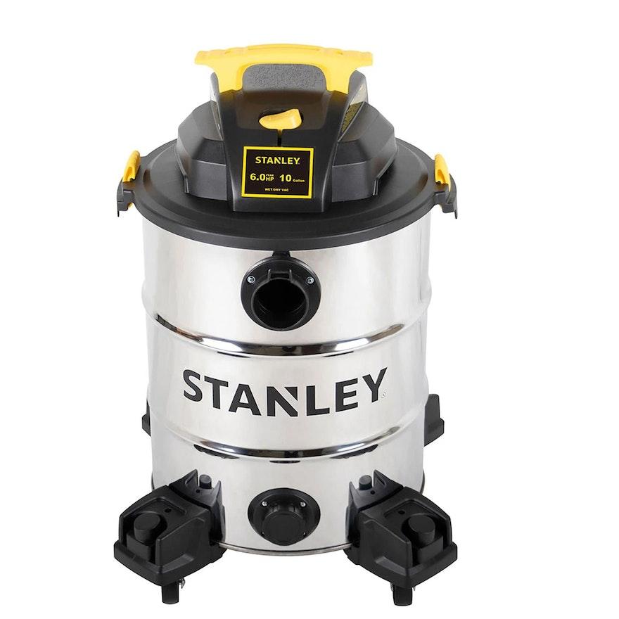 Stanley 10 Gallon 6.0-Peak HP Stainless Steel Wet Dry Vacuum