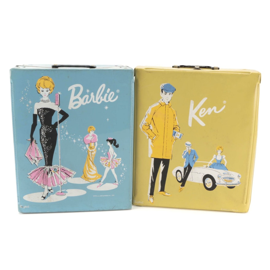 #2 Barbie Doll with Ken, Carrying Cases and Accessories, Mid-20th Century