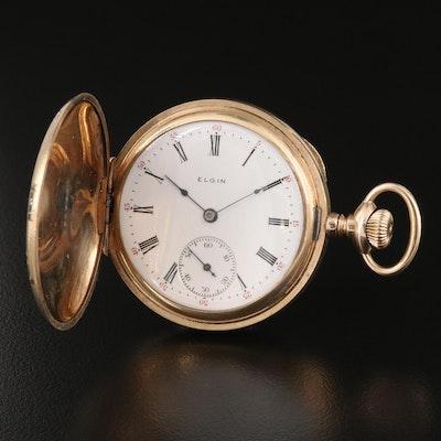 1908 Elgin 6 Size Gold Filled Pocket Watch