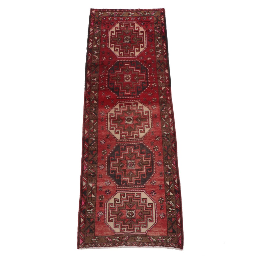 3'4 x 10'1 Hand-Knotted Caucasian Kazak Long Rug