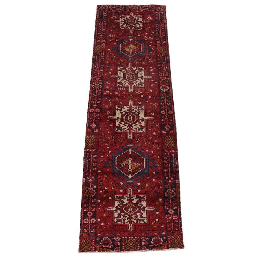 3' x 10'4 Hand-Knotted Persian Karaja Carpet Runner