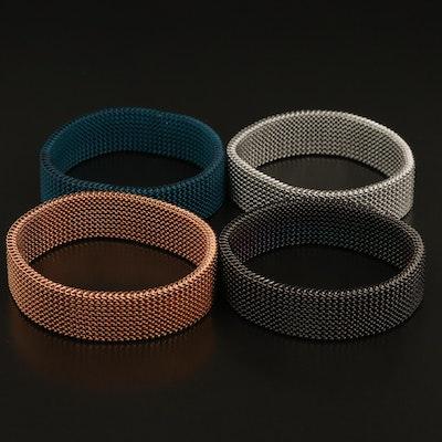 Expandable Mesh Bracelets in Multiple Colors