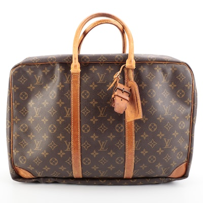 Louis Vuitton Porte-Documents Voyage Briefcase in Monogram Canvas and Leather