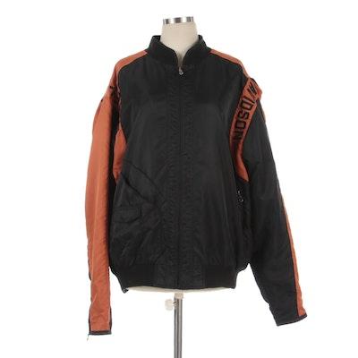 Men's Harley-Davidson Logo Embroidered Nylon Zipper-Front Jacket