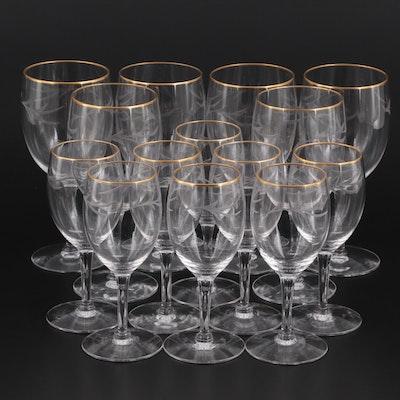 "Seneca ""Darlene"" Glass Stemware,  Late 20th Century"