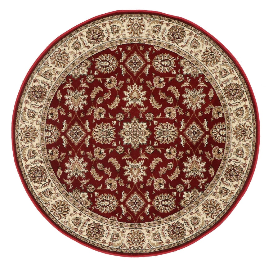 5'3 Round Machine Made Persian Style Area Rug