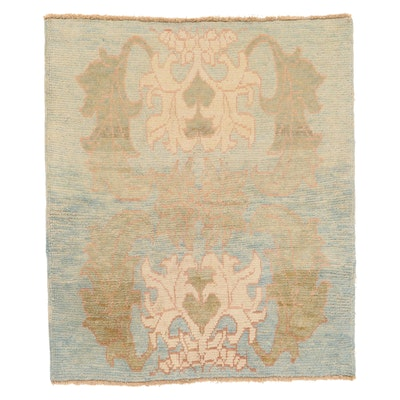 4'2 x 5' Hand-Knotted Turkish Donegal Area Rug