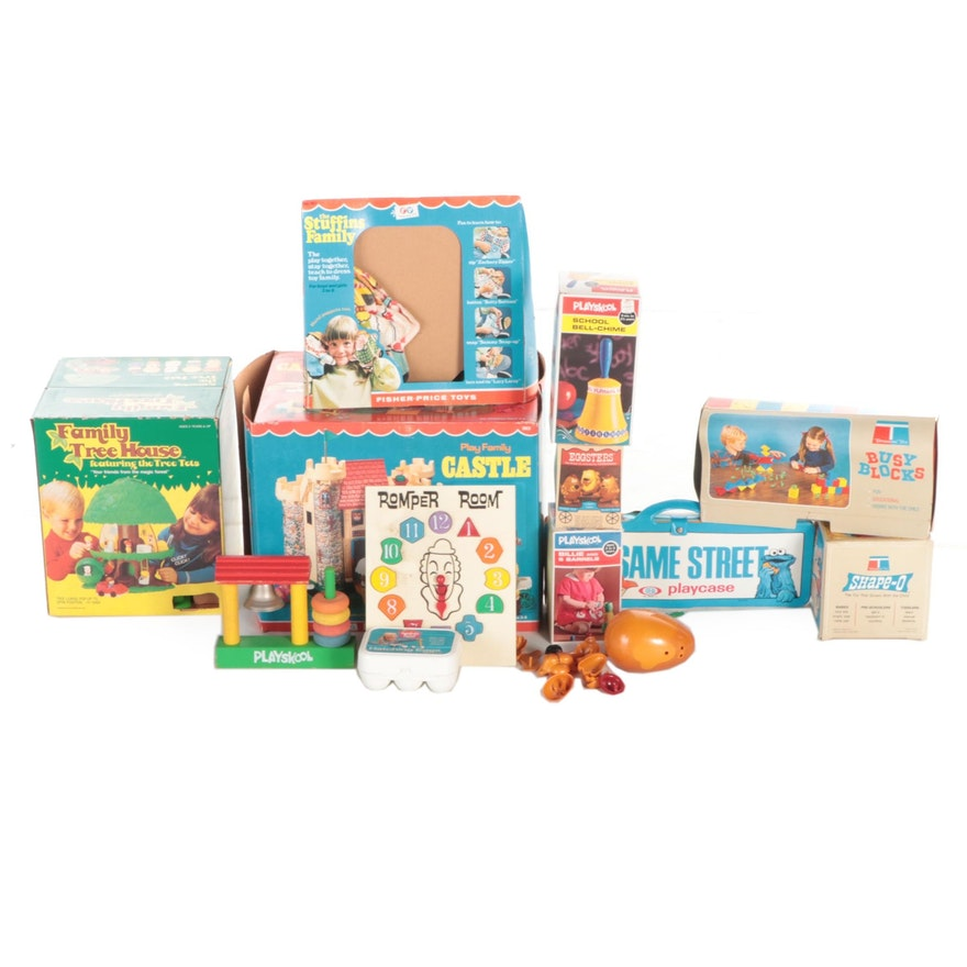 """Playskool, Fisher Price, Kenner Toys Including """"Family Tree House"""" and """"Castle"""""""