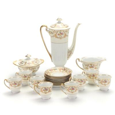 Dresden Porcelain Floral Motif Tea Set