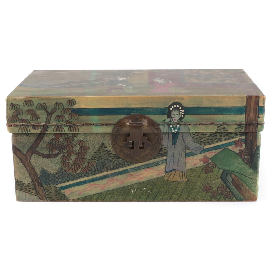 Chinese Hand-Painted Decorative Wooden Box