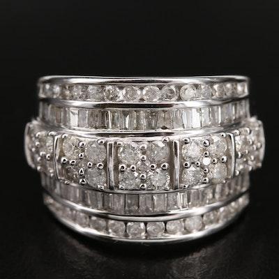10K 2.00 CTW Diamond Multi-Row Ring