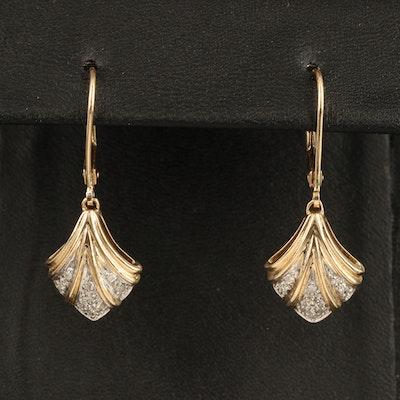 14K 0.20 CTW Diamond Fan Drop Earrings