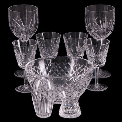 """Waterford Crystal """"Lismore"""" Wine Glasses and Other Crystal Tableware"""