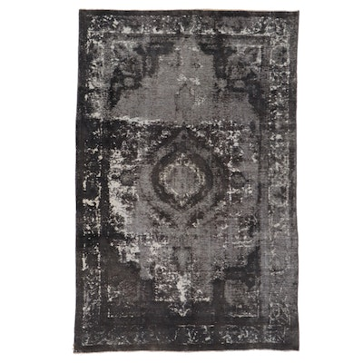6'4 x 9'6 Hand-Knotted Persian Overdyed Area Rug