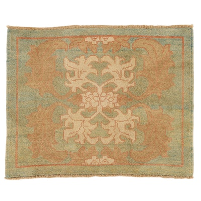 3'4 x 4'1 Hand-Knotted Turkish Donegal Accent Rug