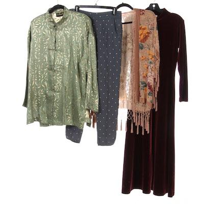 Keke Collection Velvet Jacket, Moda International Velvet Dress and More