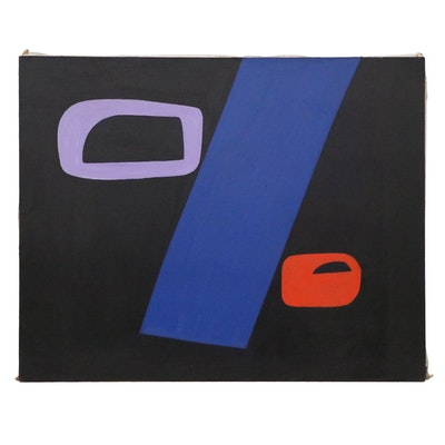 Bernice Fisher Stacy Large-Scale Non-Objective Oil Painting, Late 20th Century