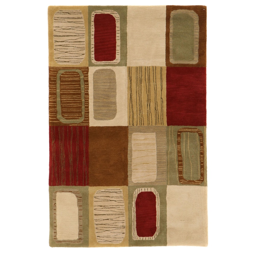 "5'1 x 7'11 Hand-Tufted Kaleen ""Khazana"" Collection Area Rug"