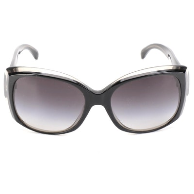 Chanel CC Oversized Square Sunglasses with Quilted Case