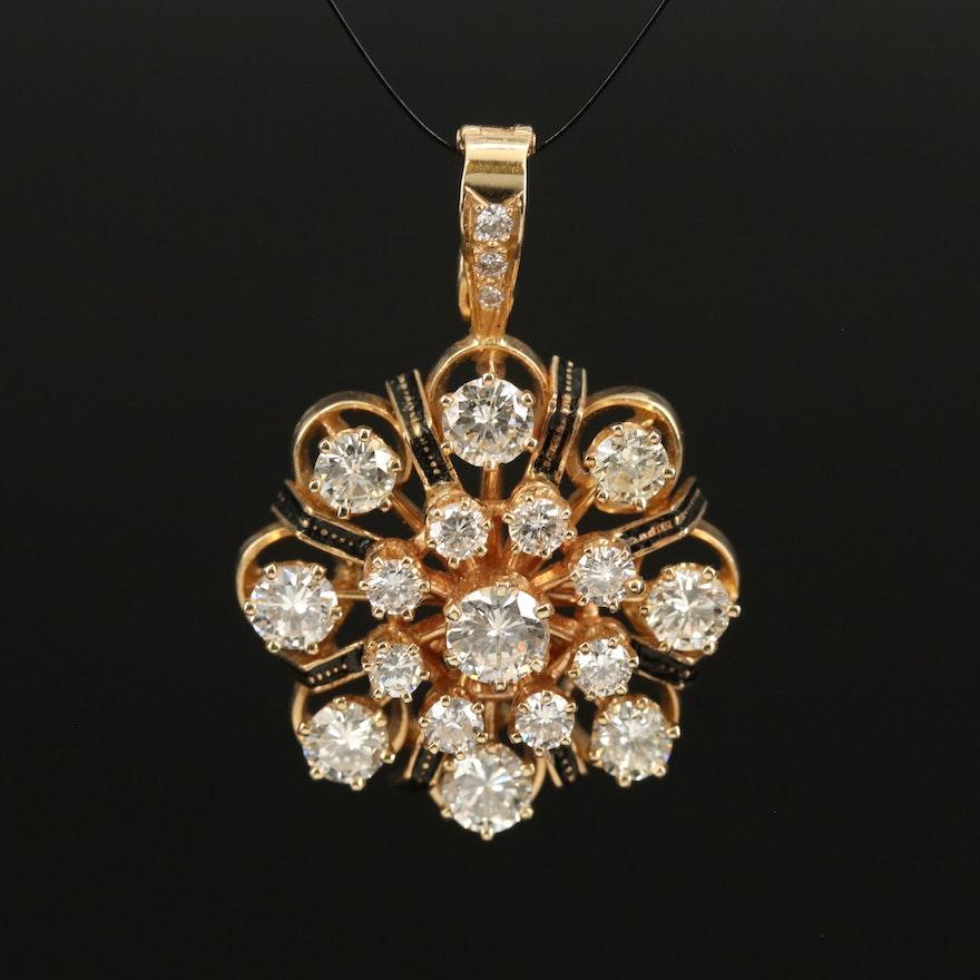 14K 2.08 CTW Diamond Enhancer Pendant