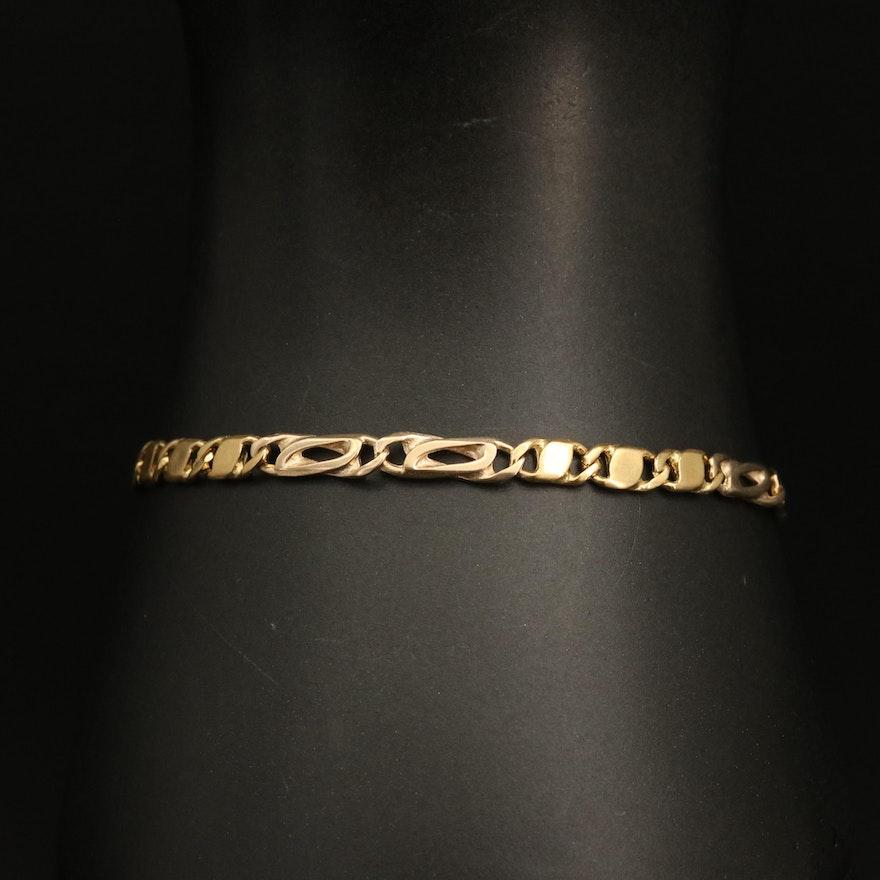 18K Fancy Figaro Chain Bracelet