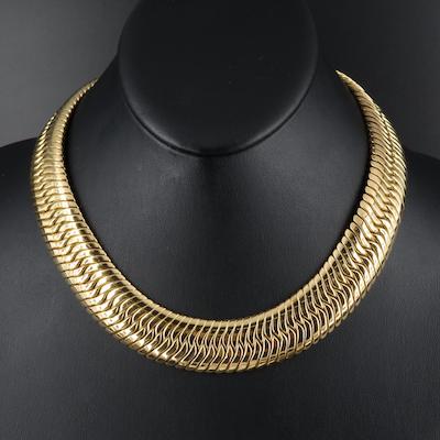 Italian 18K Herringbone Chain