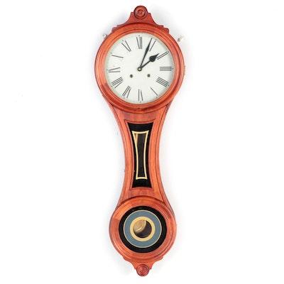 Églomisé Banjo Clock, Late 19th Century