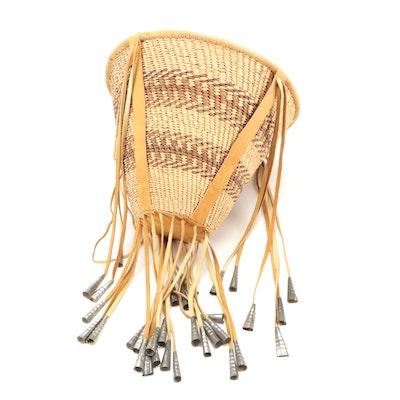 Native American Apache Style Handwoven Burden Basket