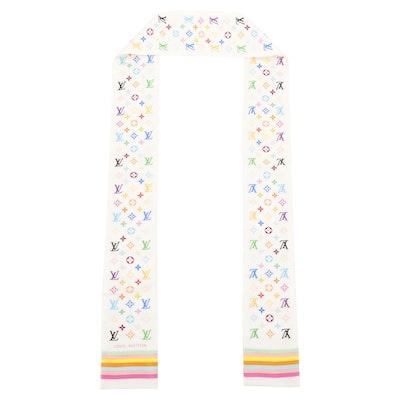 Louis Vuitton Multicolore Silk Murakami Bandeau Scarf