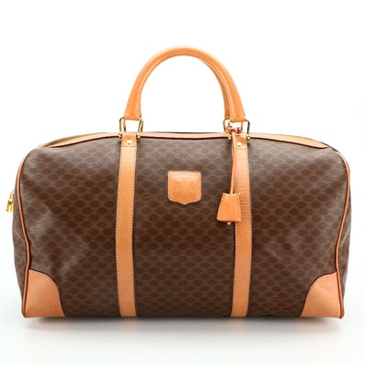 Céline Duffle Bag 45 in Macadam Coated Canvas and Leather