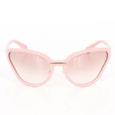 Prada Catwalk Pink SPR 22V Sunglasses with Light Ombré Lenses and Includes Box