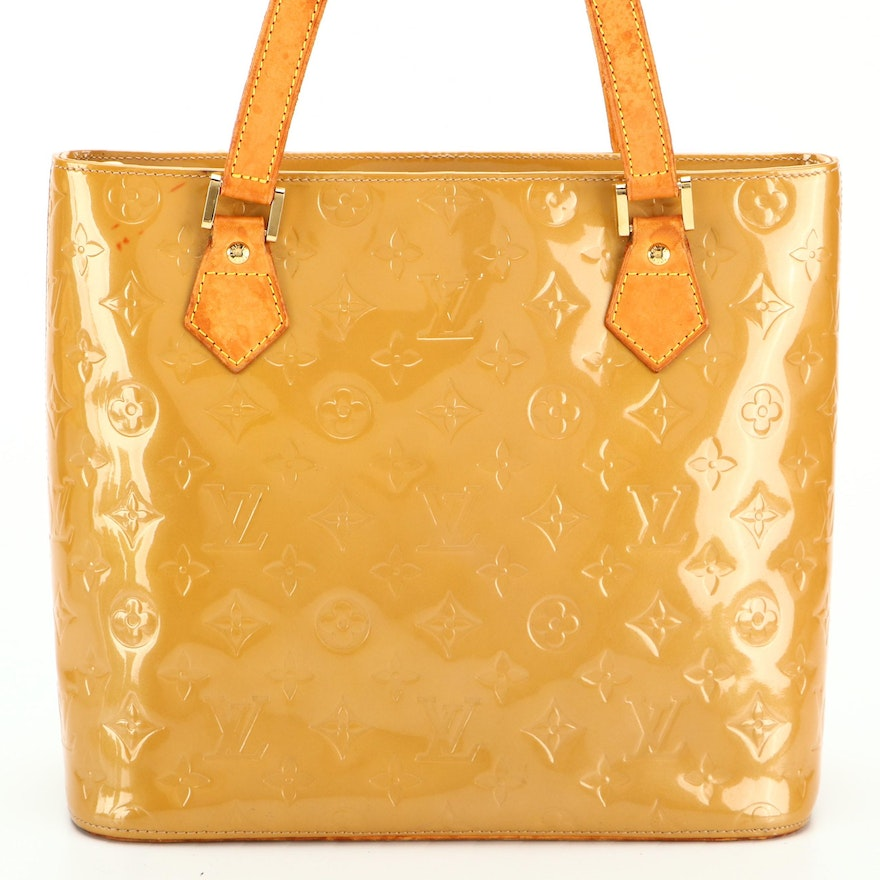 Louis Vuitton Houston Tote Bag in Noisette Vernis and Vachetta Leather
