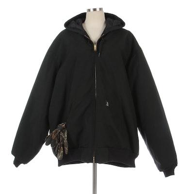 Men's Carhartt J133 Extremes® Arctic Hooded Jacket and Remington Fleece Gloves