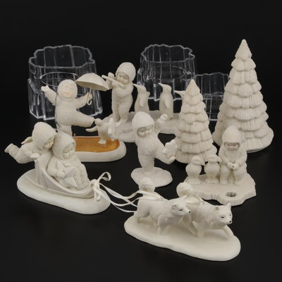 "Department 56 ""Snowbabies"" Bisque Figurines and Scenery"